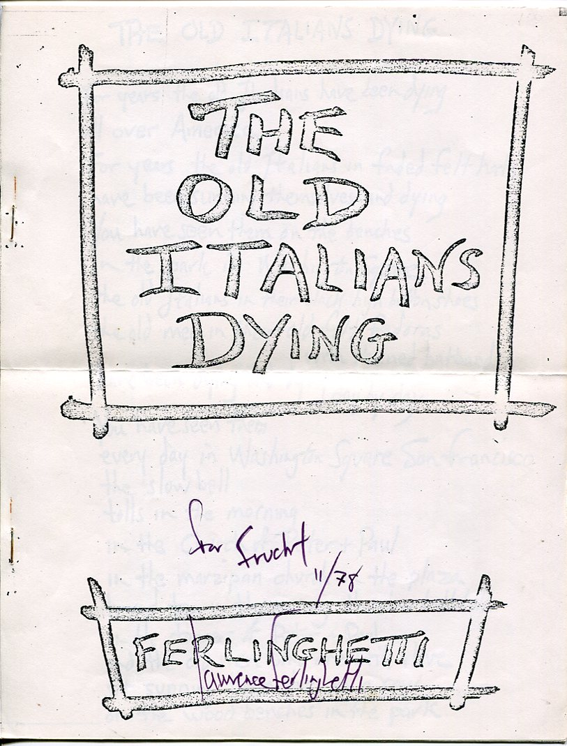 Image for The Old Italians Dying
