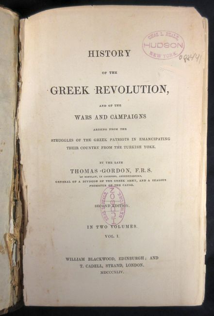 Image for History of the Greek Revolution, and of the Wars and Campaigns Airising from the Struggles of the Greek Patriots in Emancipating Their Country From the Turkish Yoke.  Vol I & II. Second Edition