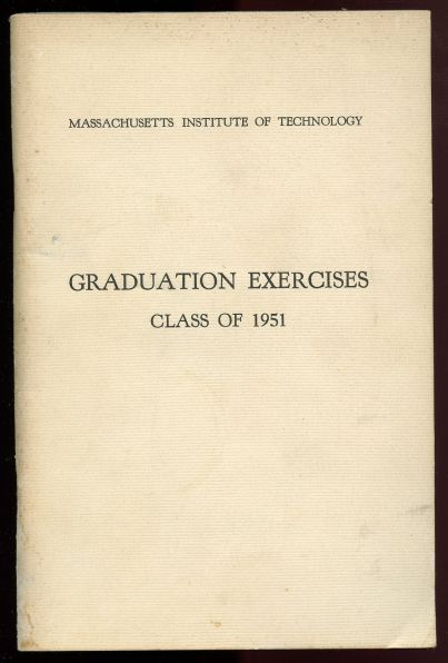 Image for Massachusetts Institute of Technology.  Graduation Exercises Class of 1951