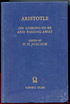 Image for Aristotle. On Coming-To-Be and Passing-Away.