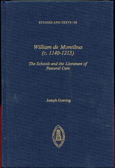 William De Montibus: The Schools and the Literature of Pastoral Care
