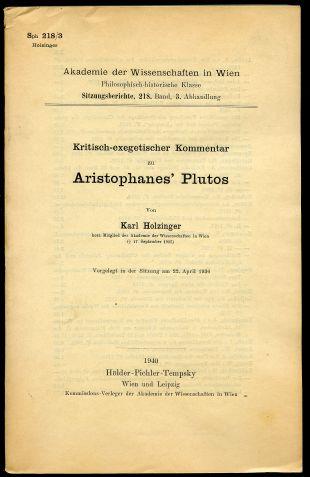 Kritisch-exegetischer Kommentar zu Aristophanes' Plutos(