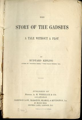 Image for Story of the Gadsbys : A Tale Without a Plot. Indian Railway Library, No. 2.