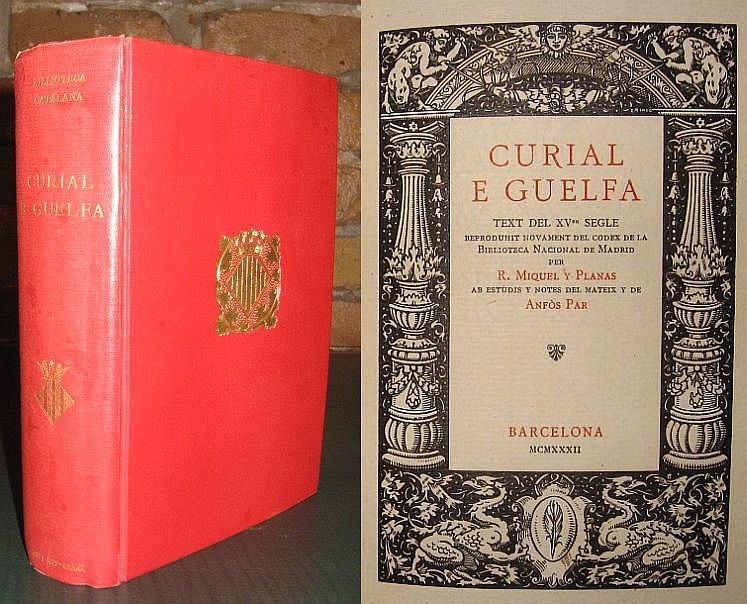 Image for Curial E Guelfa. Text Del XV Segle