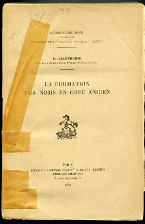 Image for La Formation des Noms en Grec Ancien