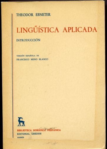 Image for Linguistica Aplicada: Introduccion