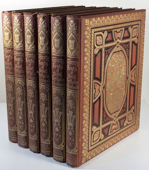 Image for A Series of Picturesque Views of Seats of the Noblemen and Gentlemen of Great Britain and Ireland. 6 Volume Set With Descriptive and Historical Letterpress.