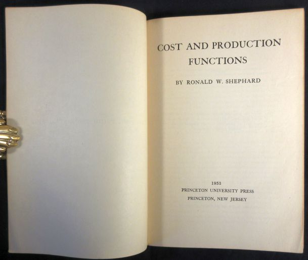 Image for Cost and Production Functions 1st Edition