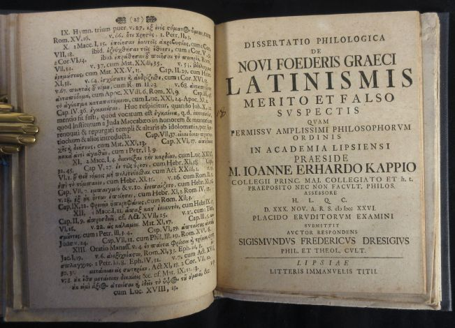 Image for Eighteen Latin Disputations on Language and Style of the New Testament 1680-1747