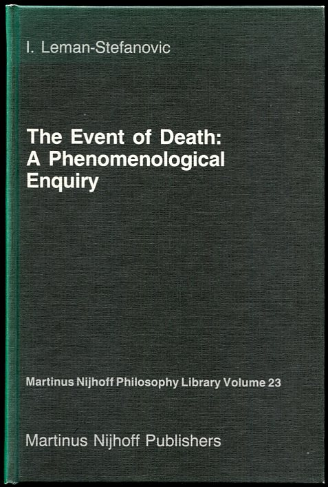Image for The Event of Death A Phenomenological Enquiry