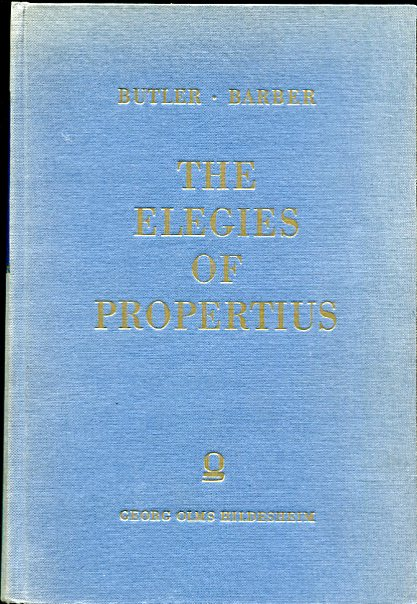 Image for The Elegies of Propertius Edited with an Introduction and Commentary