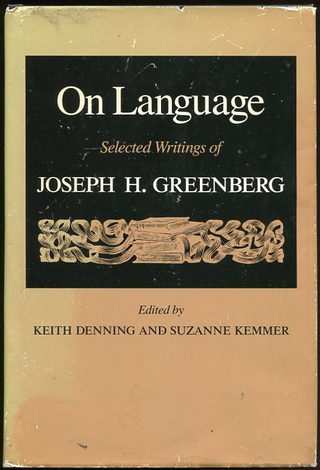 Image for On Language Selected Writings of Joseph H. Greenberg