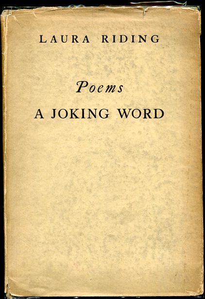 Image for Poems. a Joking Word First Edition.