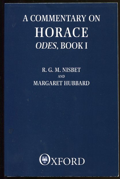 Image for A Commentary on Horace Odes, Book I (Clarendon Paperbacks)