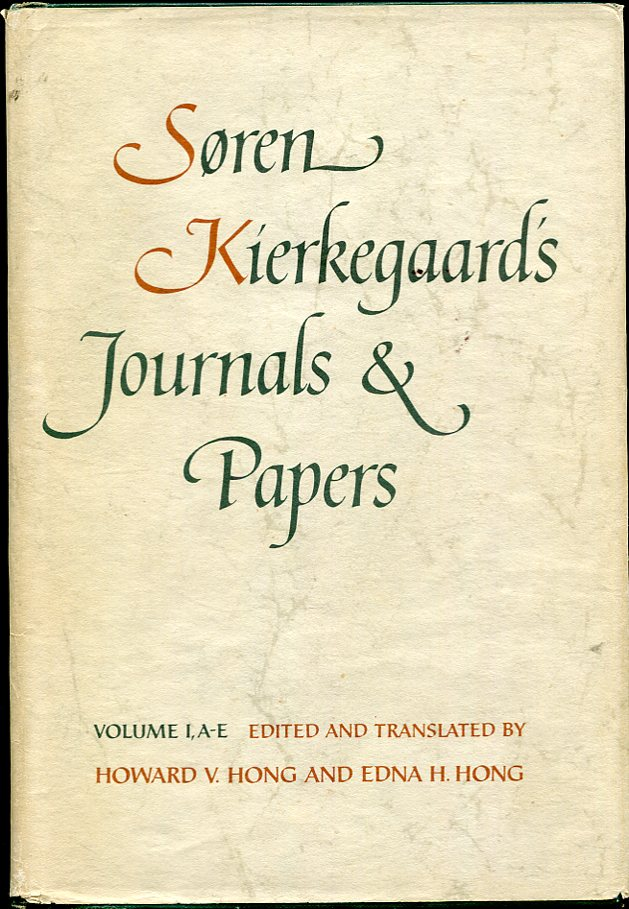 Image for Søren Kierkegaard's Journals and Papers, Volume 1, A-E