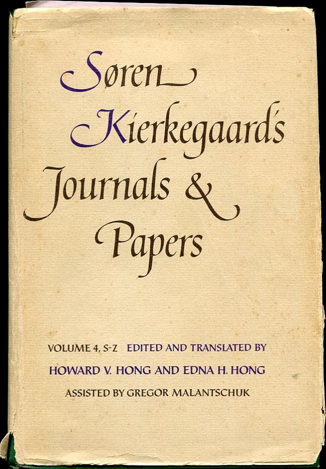 Image for Søren Kierkegaard'S Journals and Papers Soren Kierkegaard's Journals and Papers, Vol. 4: S-Z
