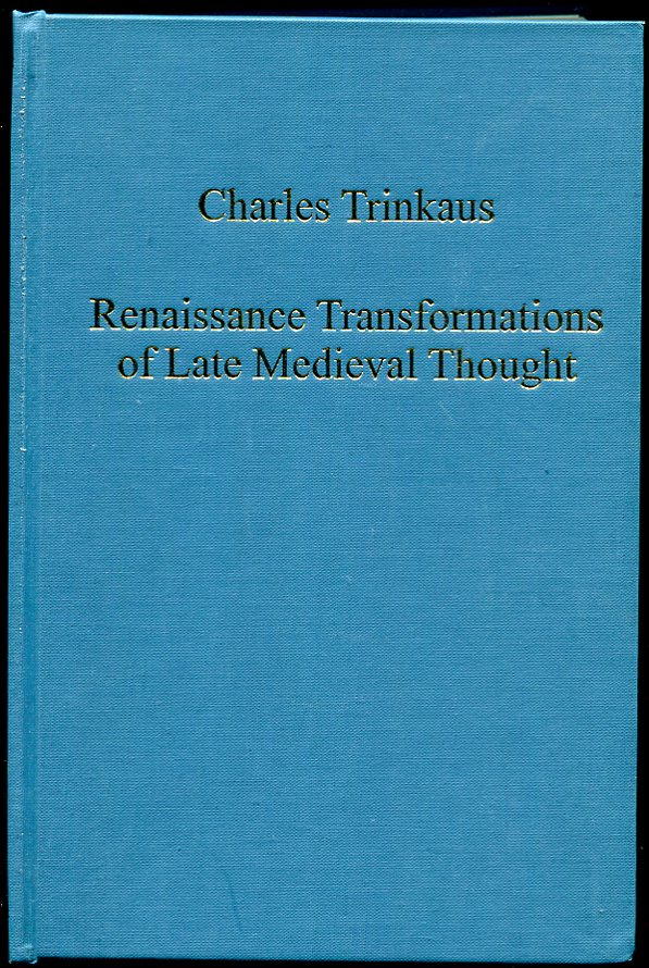 Image for Renaissance Transformations of Late Medieval Thought