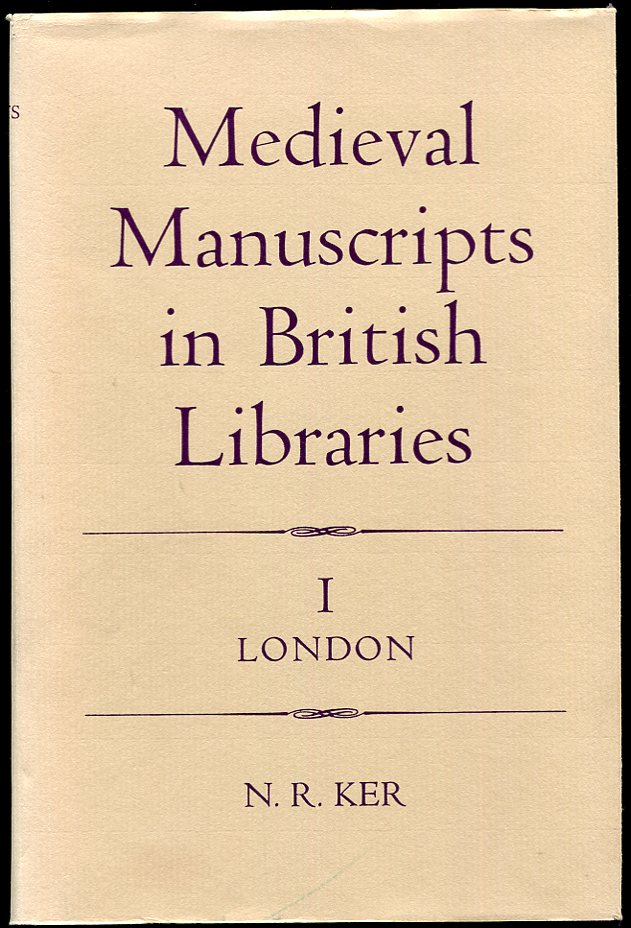 Image for Medieval Manuscripts in British Libraries, I London