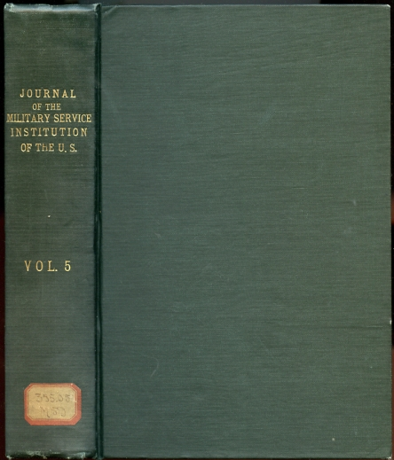 Image for Journal of the Military Service Institution of the United States. Volume Five. V