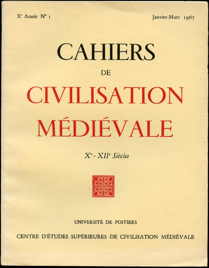 Image for Cahiers De Civilisation Medievale X-XII Siecles