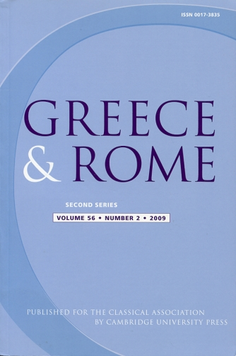 Image for Greece & Rome Second Series Volume 56, Number 2, 2009