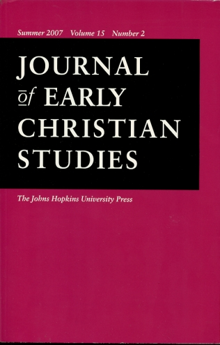 Image for Journal of Early Christian Studies Summer 2007, Volume 15, Number 2 Journal of the North American Patristics Society