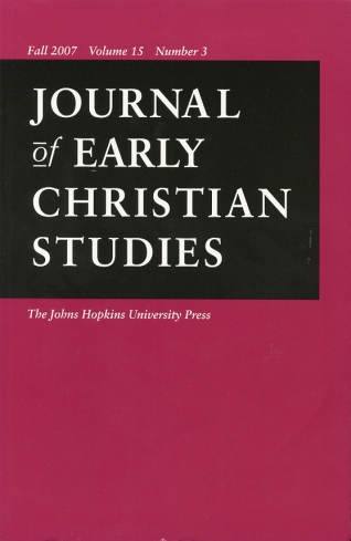 Image for Journal of Early Christian Studies Fall 2007, Volume 15, Number 3 Journal of the North American Patristics Society