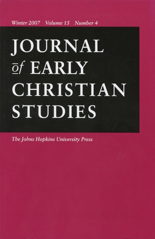 Image for Journal of Early Christian Studies Winter 2007, Volume 15, Number 4 Journal of the North American Patristics Society