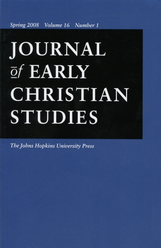 Image for Journal of Early Christian Studies Spring 2008, Volume 16, Number 1 Journal of the North American Patristics Society