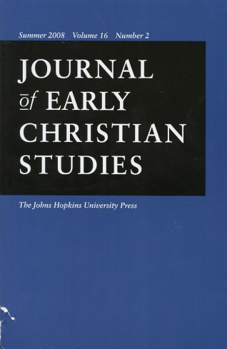 Image for Journal of Early Christian Studies Summer 2008, Volume 16, Number 2 Journal of the North American Patristics Society
