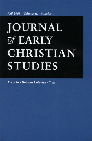 Image for Journal of Early Christian Studies Fall 2008, Volume 16, Number 3 Journal of the North American Patristics Society