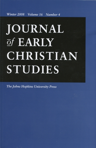 Image for Journal of Early Christian Studies Winter 2008, Volume 16, Number 4 Journal of the North American Patristics Society