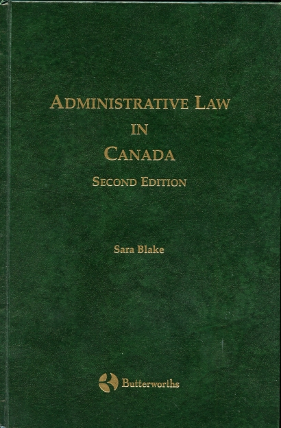 Image for Administrative Law in Canada. Second Edition