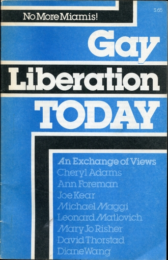 Image for Gay Liberation Today  An Exchange of Views