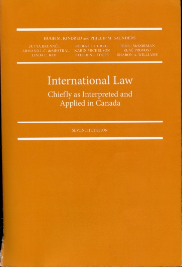 Image for International Law Chiefly As Interpreted and Applied in Canada