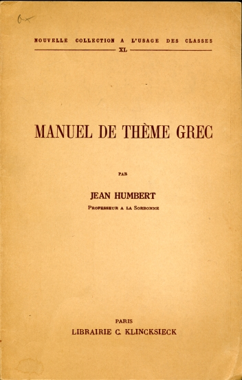 Image for Manuel De Theme Grec