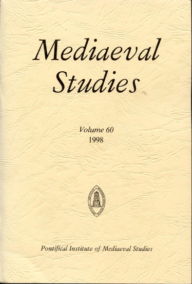 Image for Mediaeval Studies 1998 Volume 60