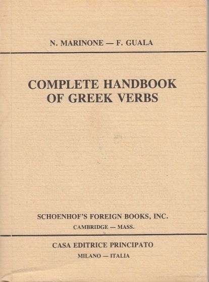 Image for Complete Handbook of Greek Verbs
