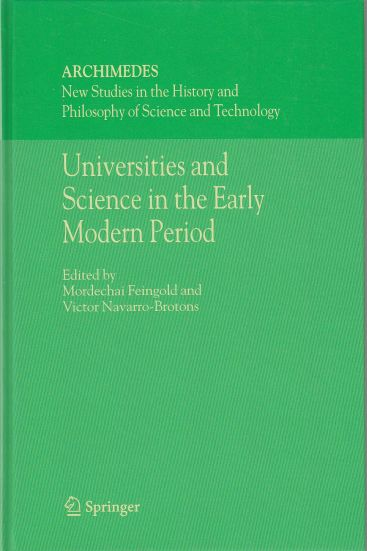 Image for Universities and Science in the Early Modern Period