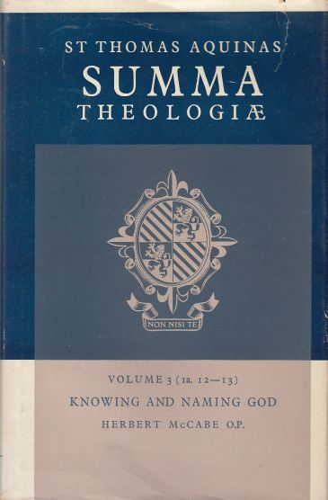 Image for Knowing and Naming God. Volume 3 (1a. 12-13)
