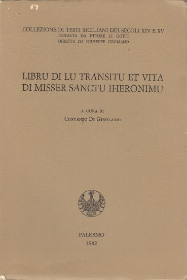 Image for Libru Di Lu Transitu Et Vita Di Misser Sanctu Iheronimu