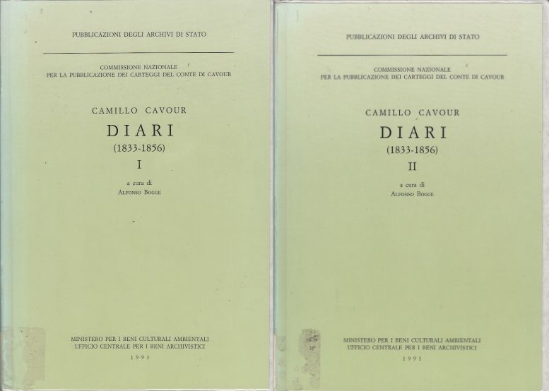 Image for Camillo Cavour, Diari, 1833-1856 I, II (2 Volumes - French Edition)