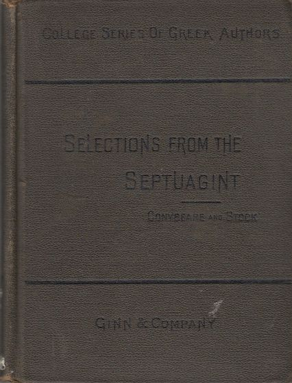 Image for Selections from the Septuagint,  According to the Text of Swete