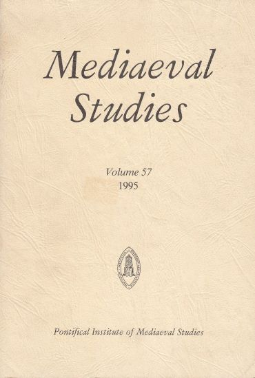 Image for Mediaeval Studies Volume 57, 1995