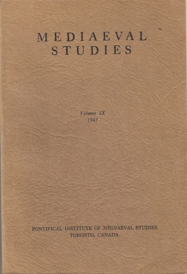 Image for Medieval Studies Volume IX
