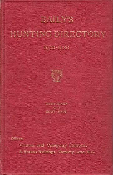 Image for Baily's Hunting Directory 1935-1936 With Diary and Hunt Maps