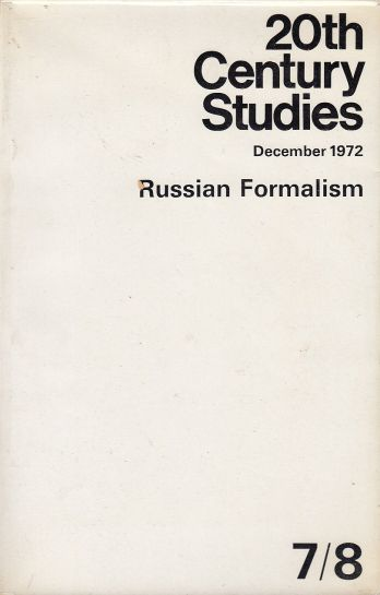 Image for 20th Century Studies, 7/8, December 1972 - Russian Formalism