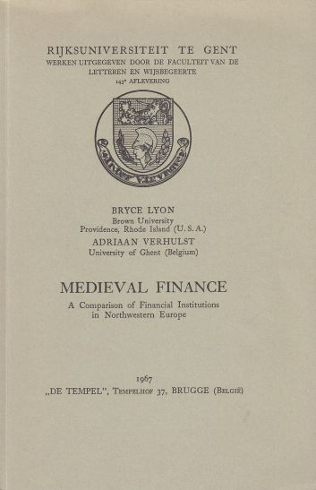 Image for Medieval Finance A Comparison of Institutions in Northwestern Europe