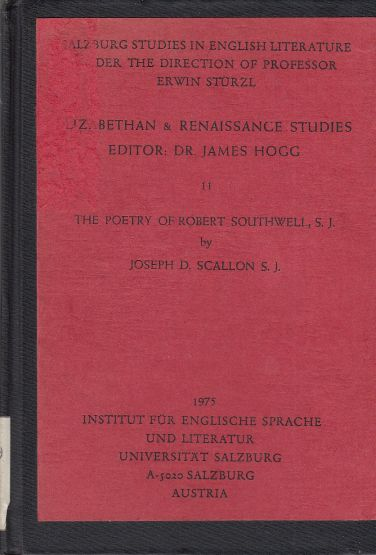 Image for The Poetry of Robert Southwell, S. J.