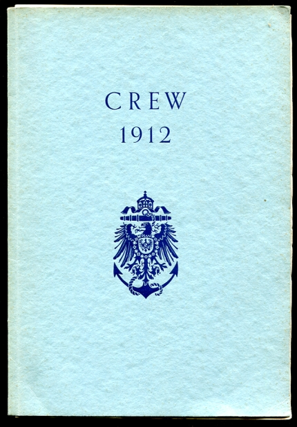 Image for Crew 1912. Geschichte Der Crew With Cover Letter to Crewman Zimmerman Dated 1956